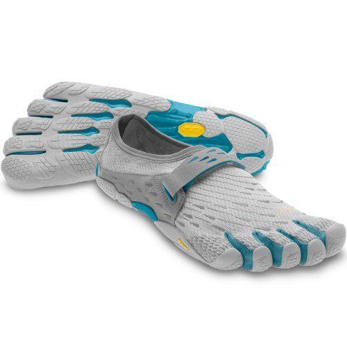 Vibram Fivefingers SeeYa - W3656, Light Grey / Blue, Size 40. Barefoot  Running ShoesLadies ...