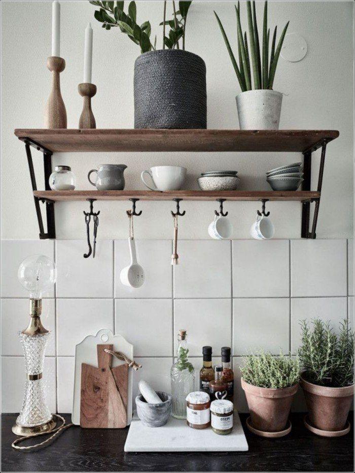 138 Awesome Scandinavian Kitchen Interior Design Ideas Rustic