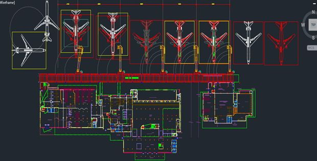 Airport Architectural Drawings FREE DWG ; airport architectural drawing done in AutoCAD projects  sc 1 st  Pinterest & Airport Architectural Drawings FREE DWG ; airport architectural ...