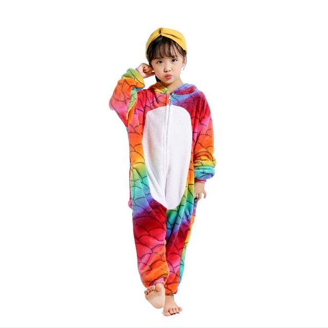 0ff93c5df 2018 Xmas Gift Children Unisex Unicorn Onesie Animal Pajamas ...