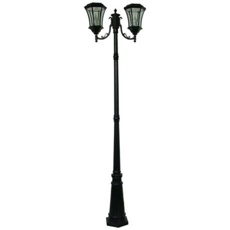 Victorian 87 high solar powered led 2 light post light products victorian 87 high solar powered led 2 light post light mozeypictures Gallery