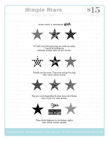 Simple Stars Webview With Images Stamp Stamp Set Photopolymer Stamps