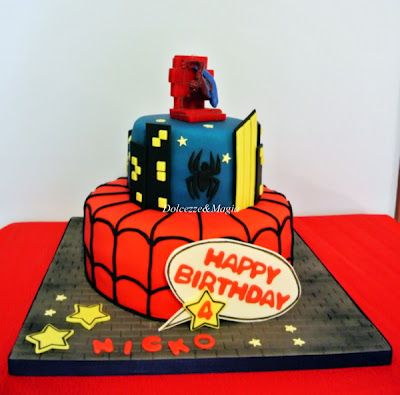 Dolcezze e Magia: SpiderMan Cake ... amazing ....