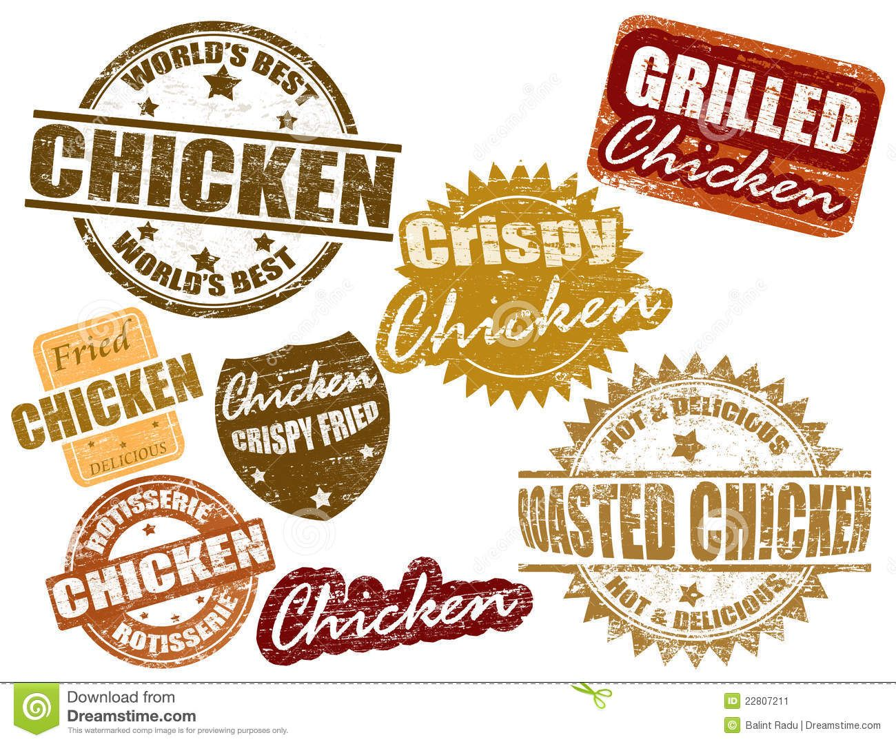 Sistema De La Estampilla Del Pollo 22807211 Jpg 1300 1080 Chicken Boxes Burger Icon Stamp