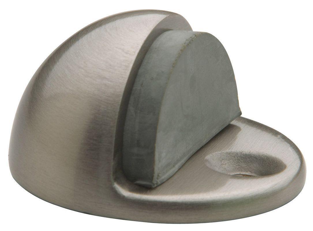 Baldwin 4005 1-1/4 Inch Half Dome Brass Door Bumper Satin Nickel Door Stop Floor Stop Dome