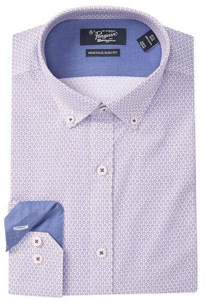 6cd42311 Original Penguin | Floral Pattern Heritage Slim Fit Dress Shirt in ...