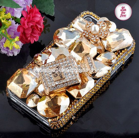 Free Phone Case & Alloy  Perfume Bottles Sparkly by WeChoice2013, $13.00