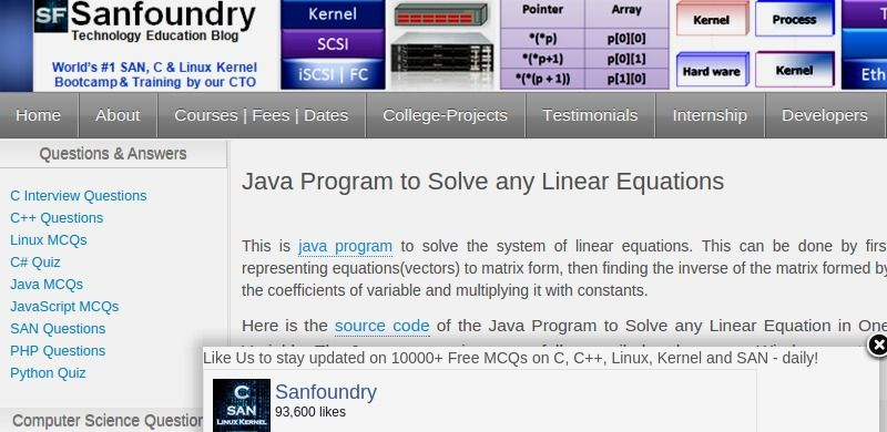 Java Program To Solve Any Linear Equations Linear Equations