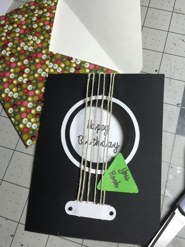Guitar Birthday Card Dad Birthday Card Diy Birthday Card For Boyfriend Birthday Cards