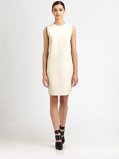 T by Alexander Wang - Leather Shift Dress - Saks.com