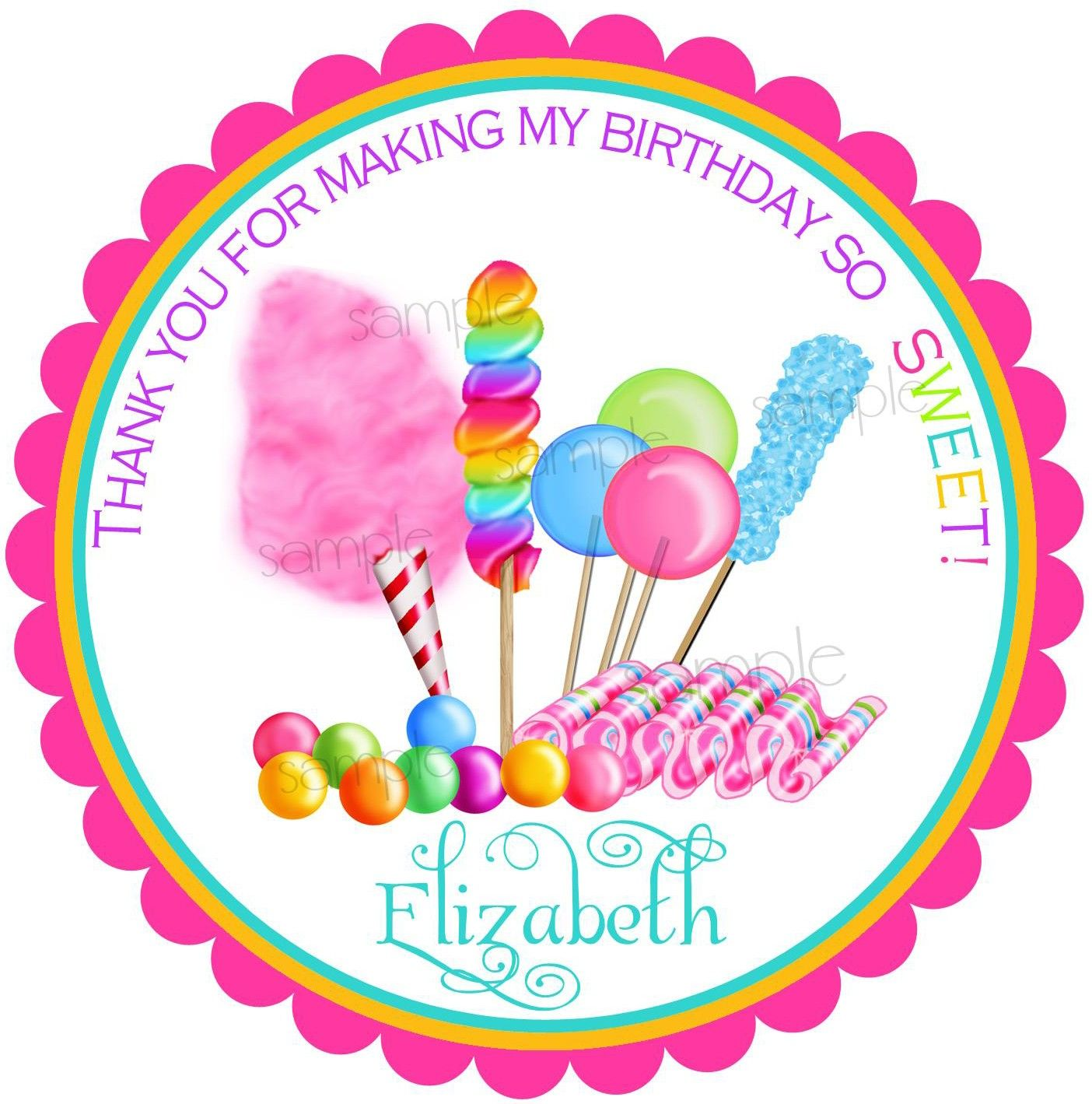 Candyland Stickers Candy CircusSweet shop Birthday party Candy