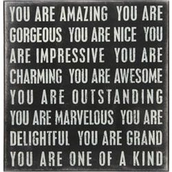 You Are One Of A Kind Box Sign Sharing Favorite Quotes Pinterest