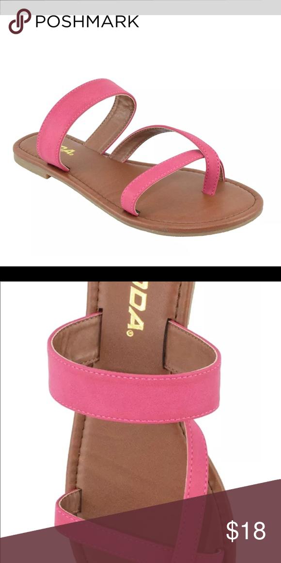 353be2065368 Soda Slip On Sandals Flip Flops Summer Pink 5.5 Soda Shoes Women Flip Flops  Flat Summer Basic Sandals Thongs Fuchsia Pink Size 5.5 Cute and comfortable  ...