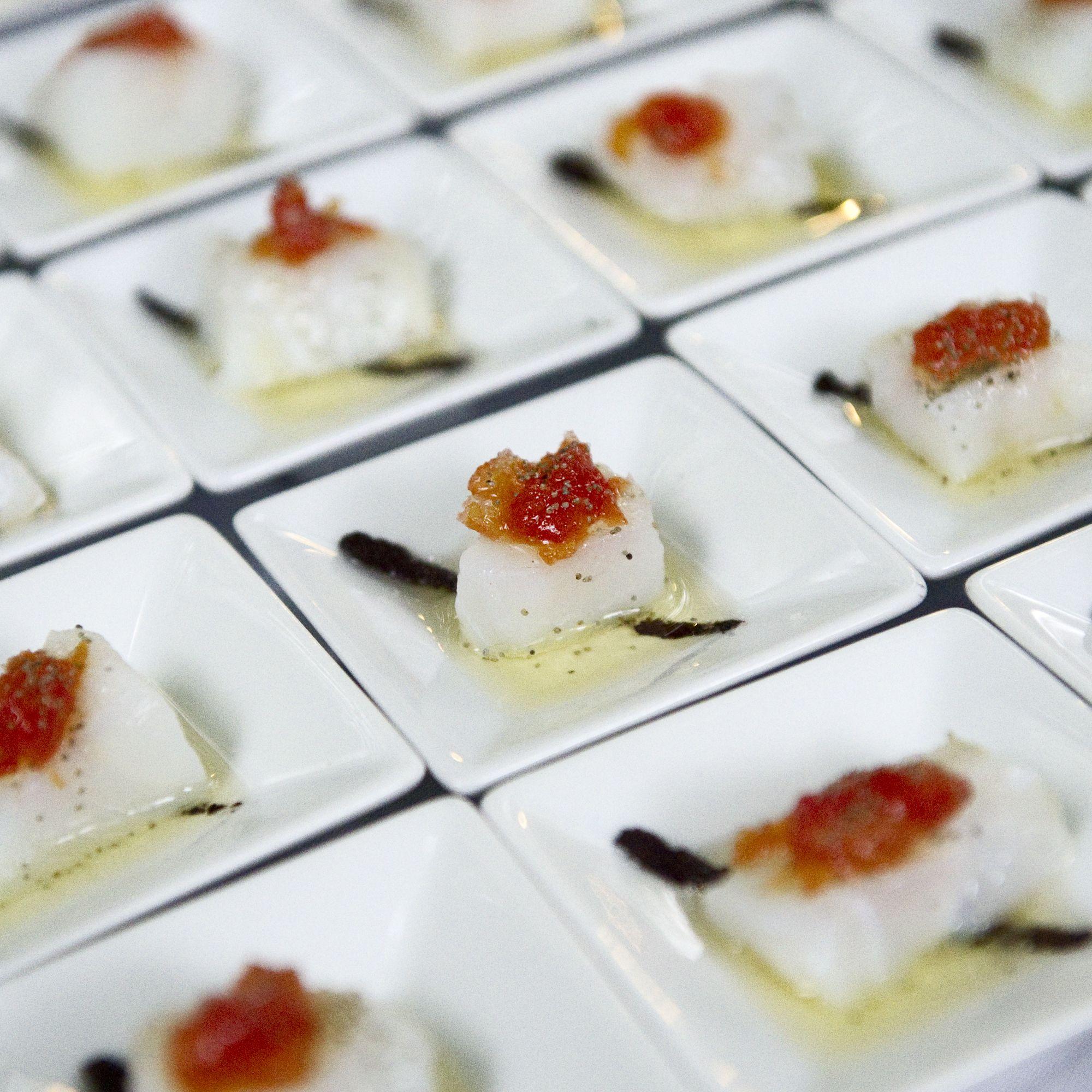 Bacalao con mermelada de tomate y aceite de aceitunas - Aperitivos con bacalao ...