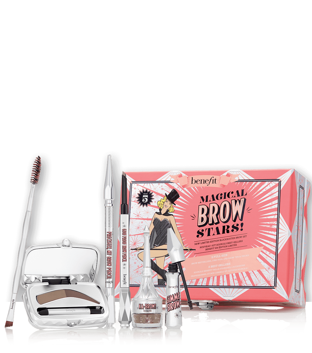 From Brow Pencils To Powders To Gels And More This Set Has Everything You Need To Transform Your Brows All In Benefit Brow Set Benefit Cosmetics Benefit Brow