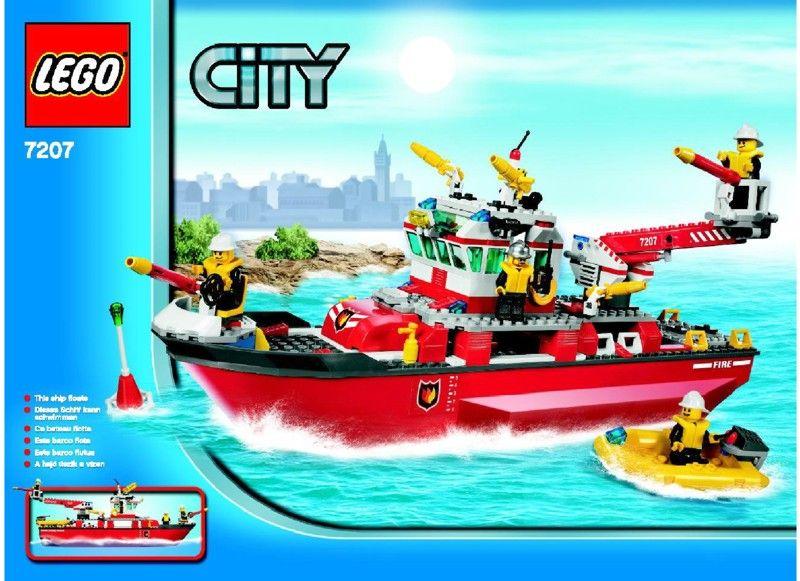 City Fire Boat Lego 7207 Lego Fire Veh Pinterest Lego