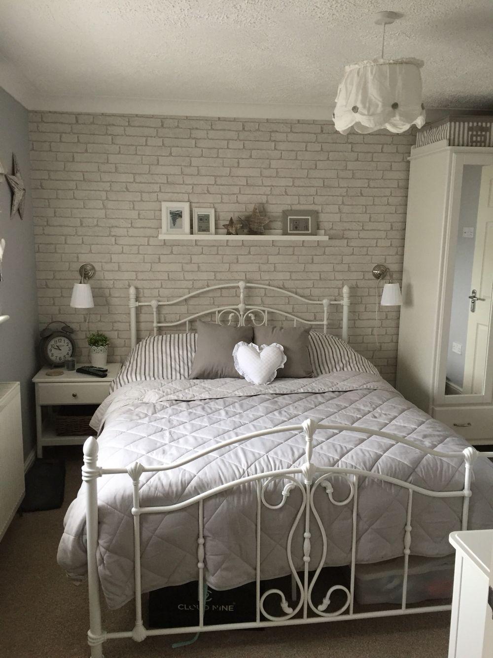 5 Sweet Shabby Chic Teenage Girls Bedroom Ideas White Brick Wallpaper Bedroom Brick Wallpaper Bedroom White Bedroom Decor