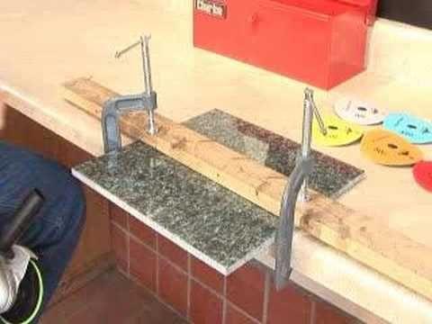 How To Polish Granite Tile Edges Pt 1 Of 2 Marble Granite Scraps