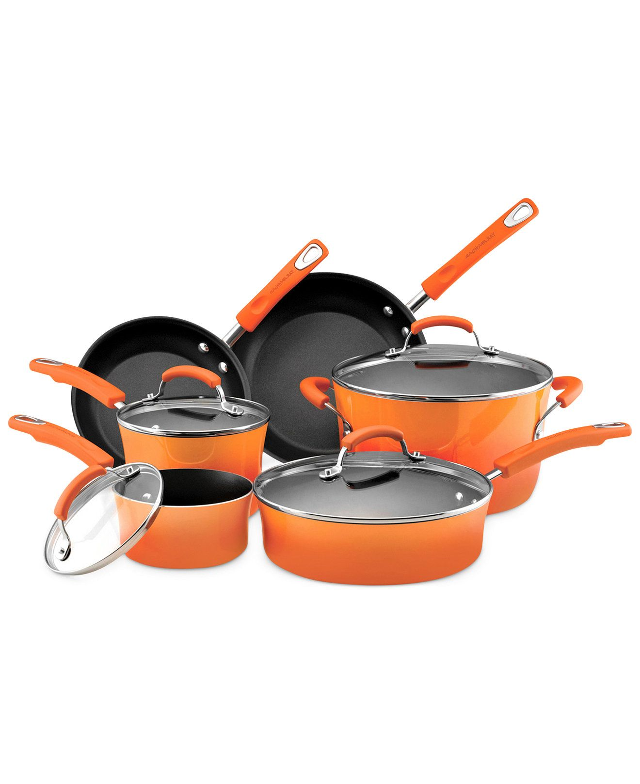 Turn up the heat with fire-hot orange cookware from Rachael ...