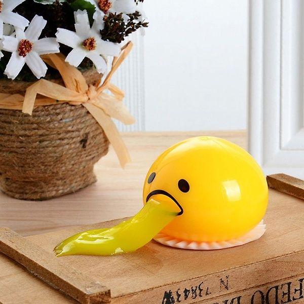 Lazy Gudetamaa Vomiting Egg Tricky Toy Yolk Can Be Eaten Back Shocker Joke Gift New Depressed Creative Toys For Friends Best-selling