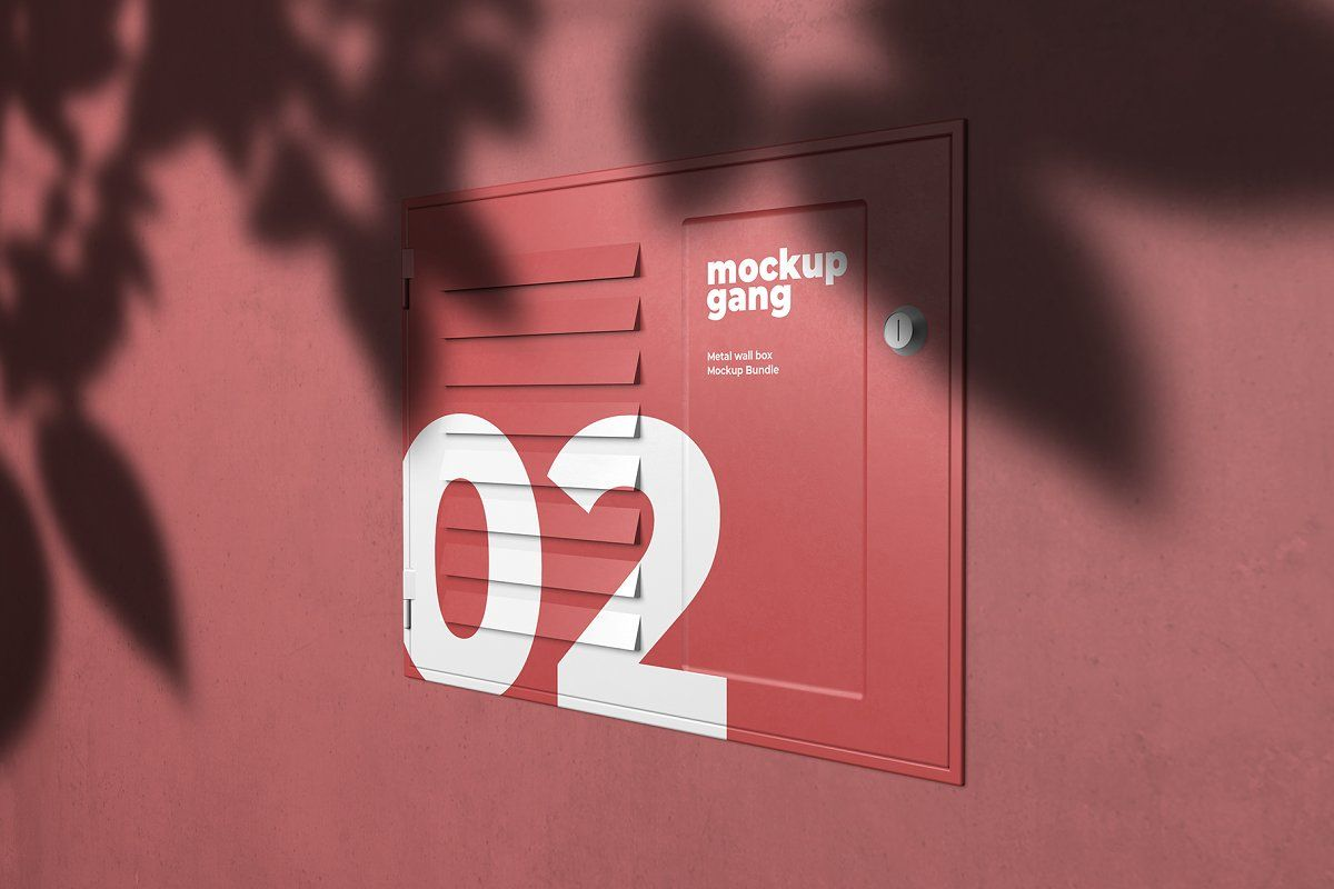 Download Metal Wall Box Mockup Bundle Sponsored Psd Files Fully Presentation Wall Boxes Business Card Design Minimalist Box Mockup