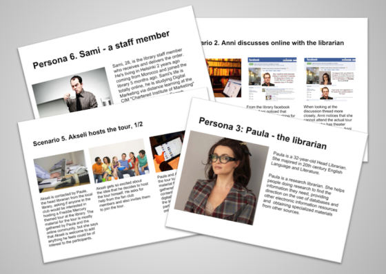 Samples of our personas and scenarios | Design and Design