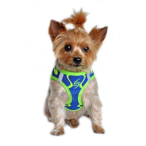American River Neon SportCobalt Blue Ultra Choke Free Dog Harness in Size SMALL Chest 1316 for pets weighing 611Lbs -- Learn more by visiting the image link.Note:It is affiliate link to Amazon.