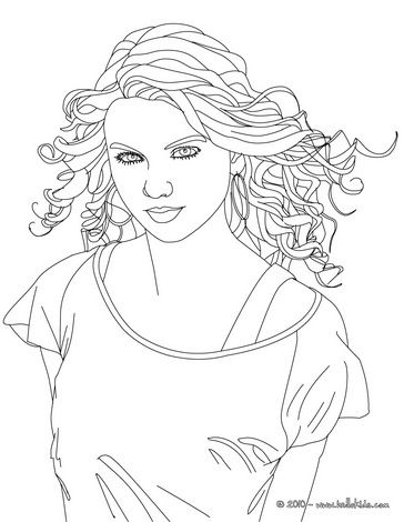Color The Amazing Taylor Swift With These Very Detailed Color