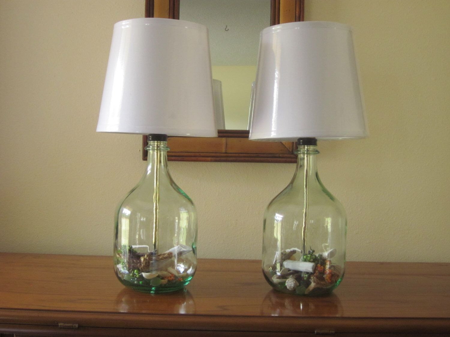Set of 2 table lamps bedside lamps bedroom lamps nautical decor set of 2 table lamps bedside lamps bedroom lamps nautical decor glass geotapseo Image collections