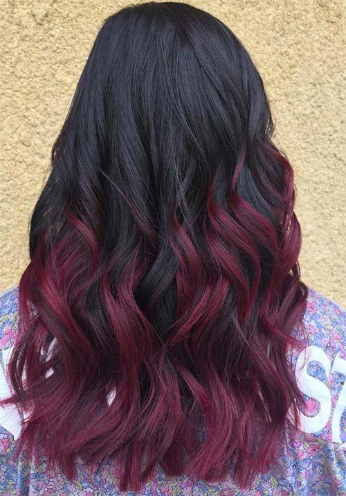 100 Badass Red Hair Colors Auburn Cherry Copper Burgundy Hair Shades Hair Color For Black Hair Black Hair With Highlights Hair Color Burgundy