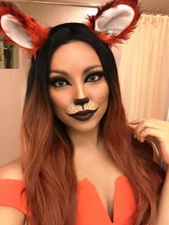 20 Fox Halloween Makeup Ideas For Women Halloween Halloween - Fox-makeup