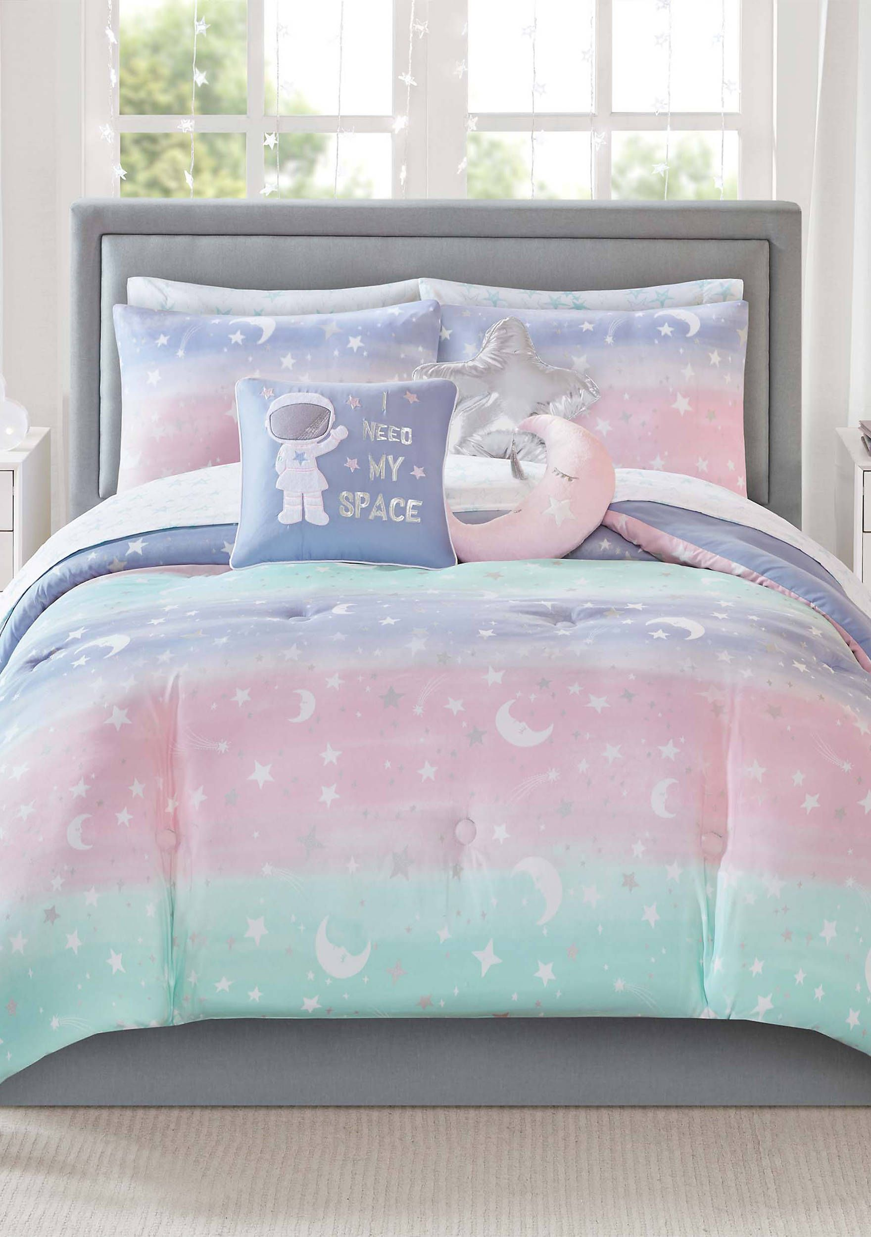 BlessLiving Galaxy Unicorn Duvet Cover 3 Piece Cosmic Rainbow Bedding Unicorn Doona Cover Size King