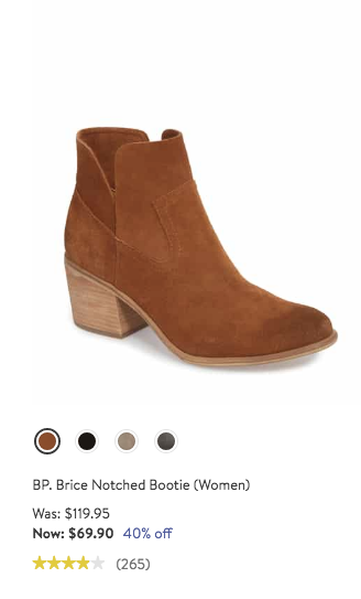 7508cf9ba4a BP. Brice Notched Bootie  Boots  Booties  HalfYearlySale  Nordstrom ...