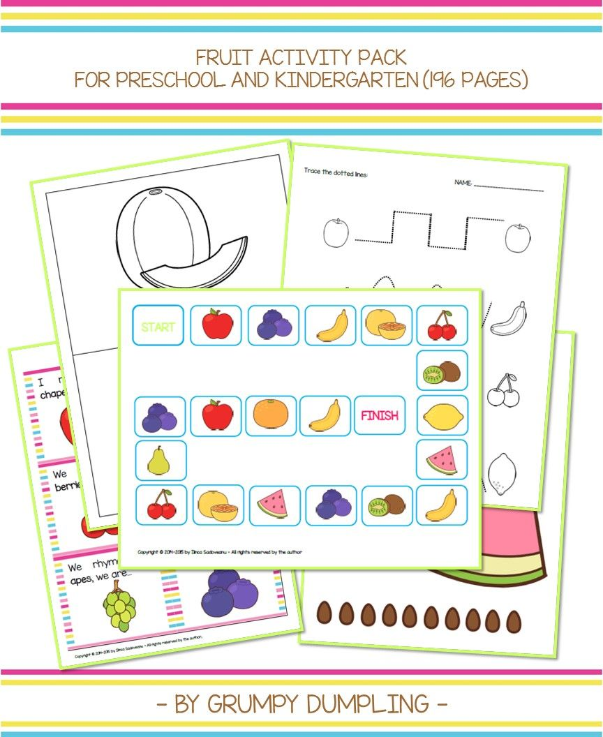 Fruit Pack For Kindergarteners This Pack Contains Flashcards Watermelon Seeds Math Game Tracing And Activity Pack Letter Recognition Games Activities [ 1056 x 864 Pixel ]