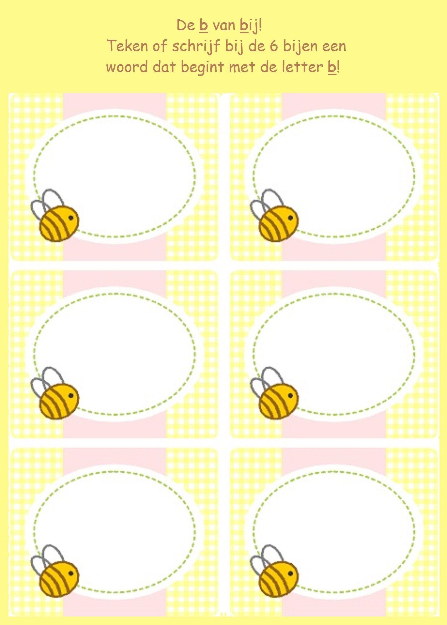 De B Van Bijen Werkbladen
