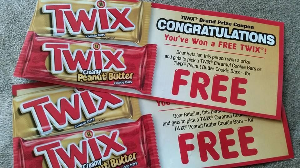 Twix: Instant Win Game 100,000 Win Full-Size Twix Bars and 400,000 More Winners - I WON! - Raining Hot Coupons