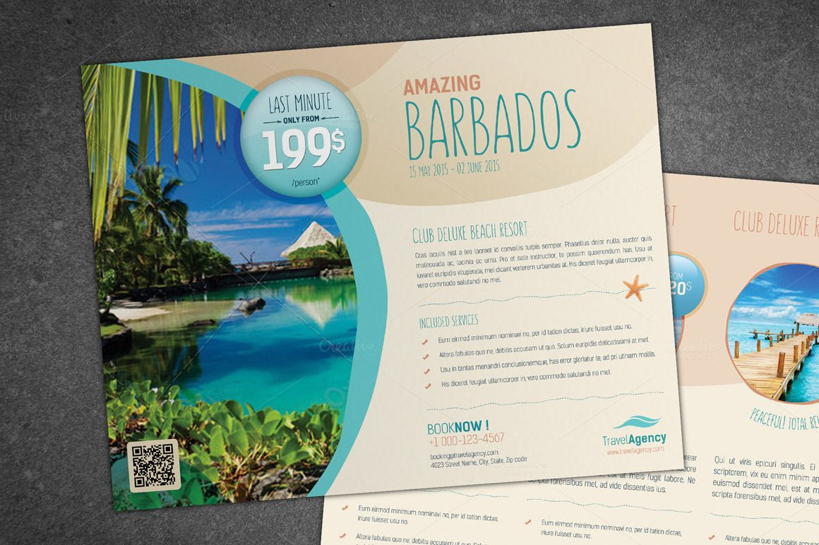 Travel Flyer By Sabin On Creativemarket  Flyer Designs