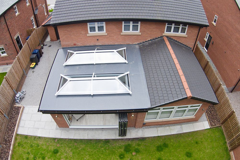 Best Two Roof Lanterns On A Flat Roof House Extension Design 400 x 300