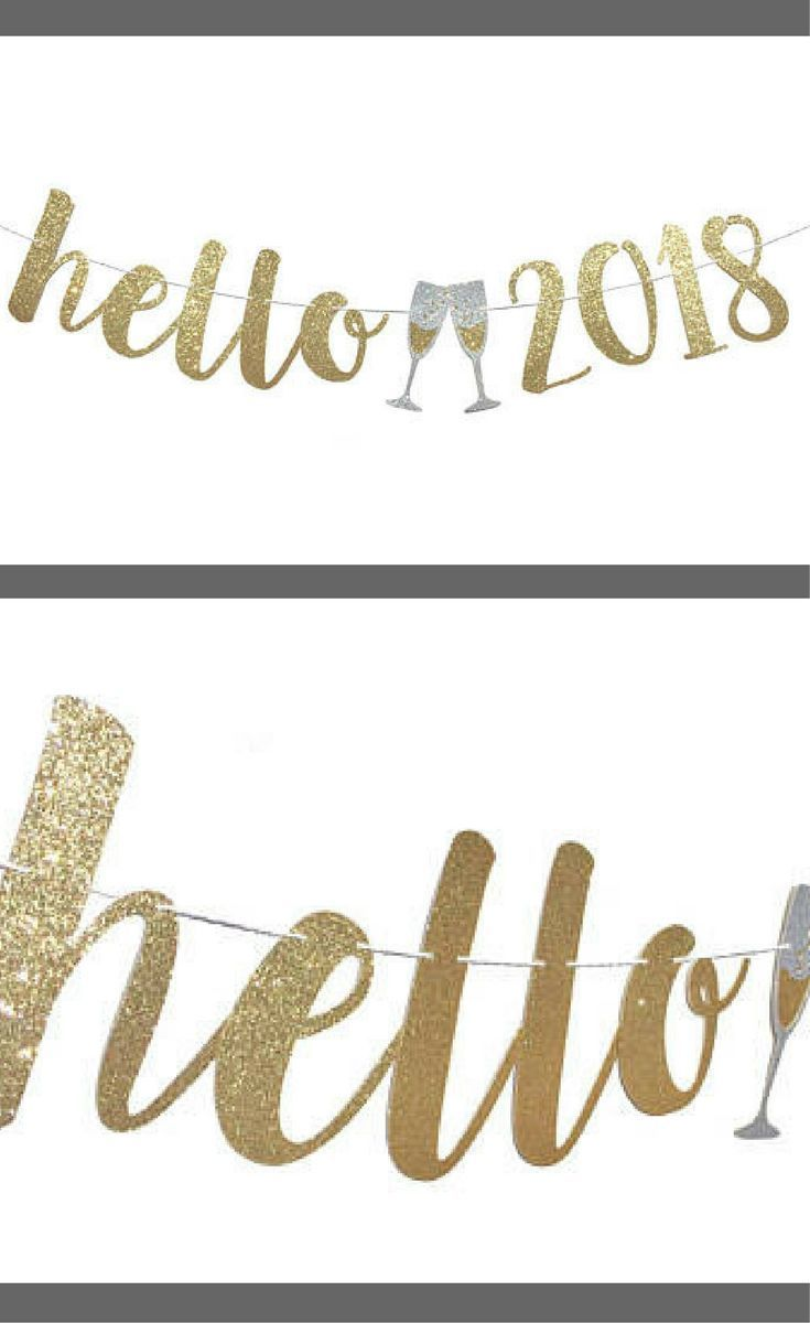 hello 2018 new years eve banner new years eve party decoration happy new year banner
