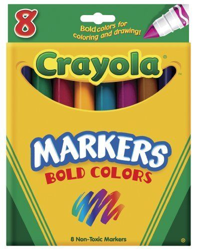 Crayola 8ct Broad Markers Bold by Crayola 400 Made in America