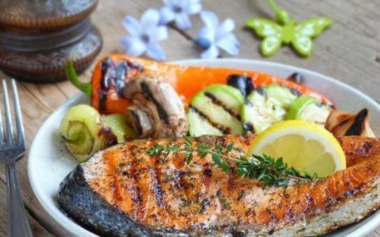 recette darne de saumon au four poisson et fruits de. Black Bedroom Furniture Sets. Home Design Ideas