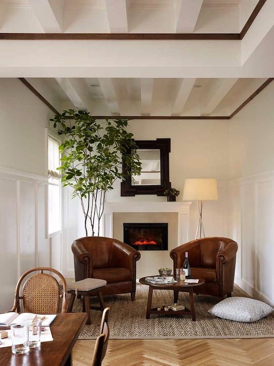 Board And Batten Living Room Modern Living Room Jute Interior Design Fireplace Seating Small Sitting Areas Small Sitting Rooms #sitting #area #ideas #in #living #room