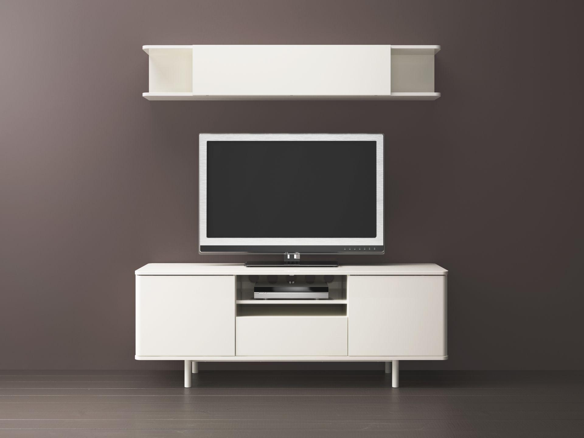 MOSTORP Tv-meubel, wit hoogglans wit