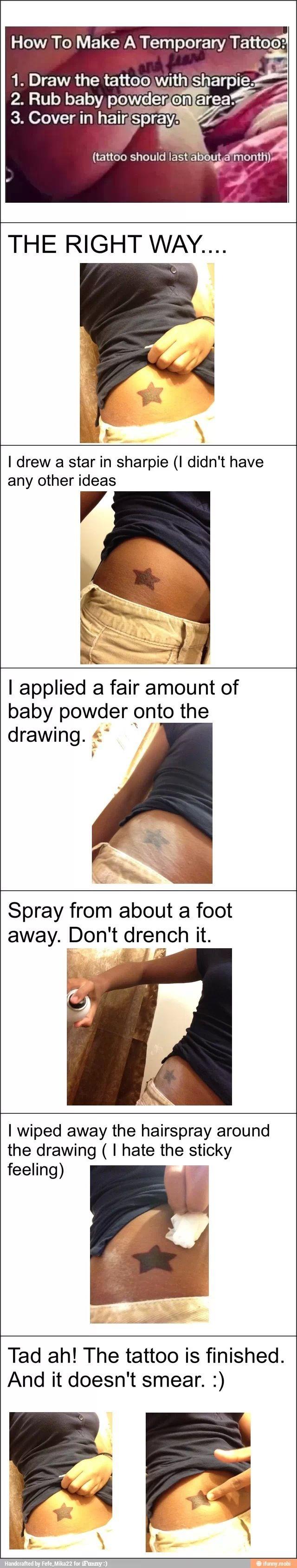 Temporary tattoos..
