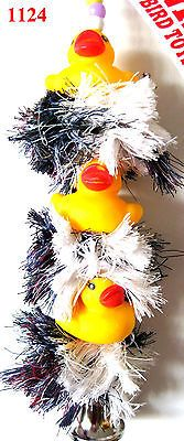 1124 TRIPLE DUCKY PLUCKER BIRD TOY parrot cage toys african grey amazon conure