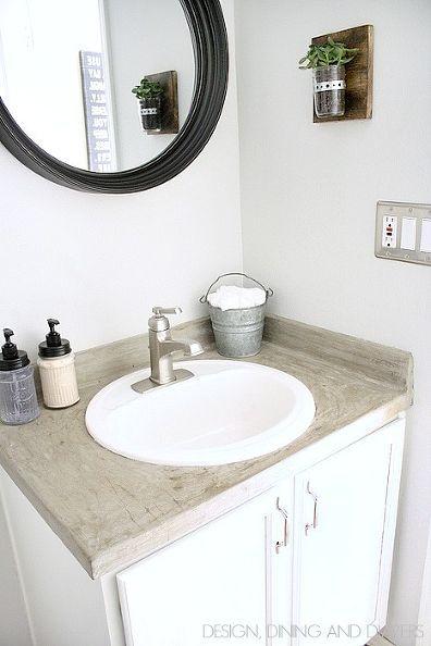Budget Powder Room Makeover Farmhouse Bathroom Bathroom Farmhouse Style Bathroom Decor