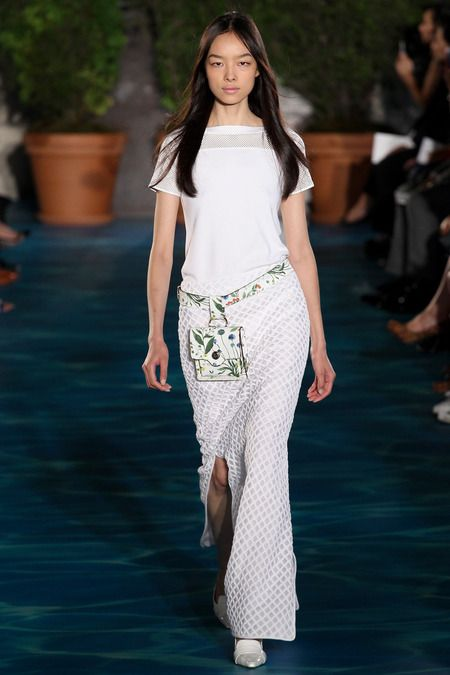 Love this Maxi and the head to toe white....by Tory Burch   Spring 2014 Ready-to-Wear Collection   Style.com