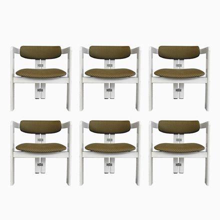 Italienische Pamplona Stühle von Augusto Savini für Pozzi, 1965, 6er ...