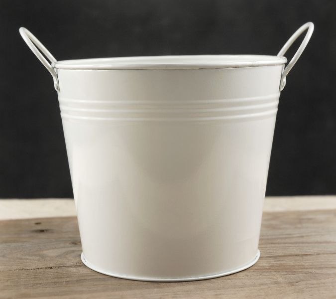 White metal bucket quot with handles centerpieces