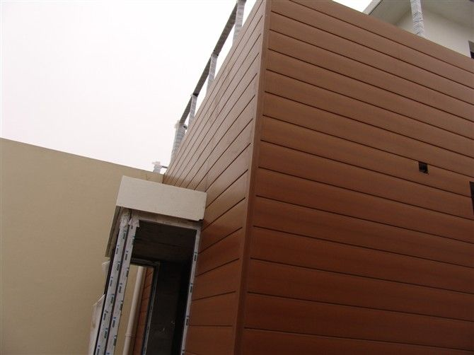 Attractive Outdoor Wood Plastic Wall Panel For Commercial Building Exterior Wall Cladding